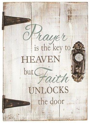 Prayer is the key Muurdecoratie